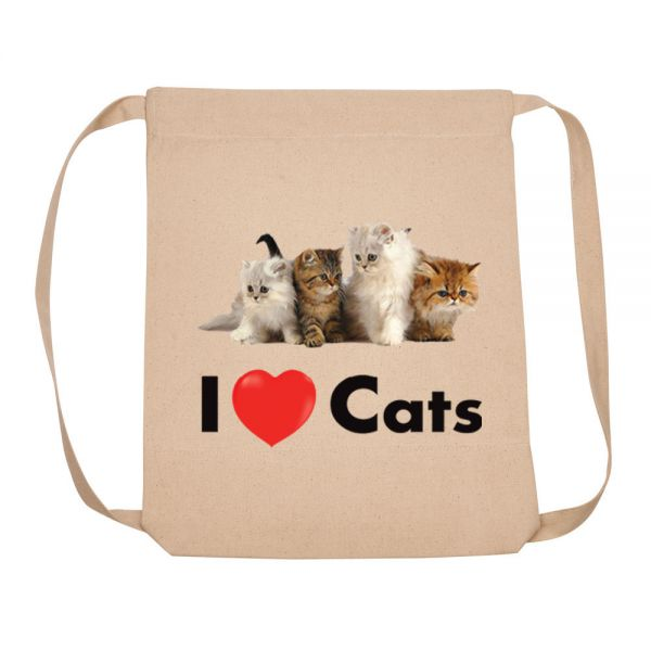 I Love (heart) Cats - Backpack