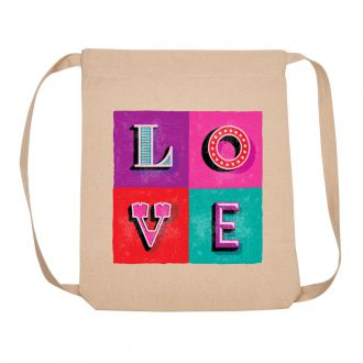 LOVE (in 4 blocks) - Backpack