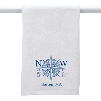 Longitude & Latitude (add location) - Hand Towel