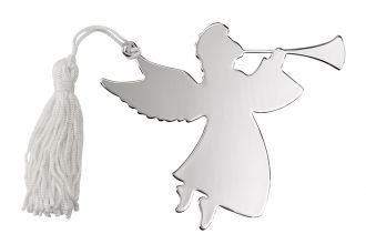 ANGEL TRUMPETER ORNAMENT W/WHITE TASSEL