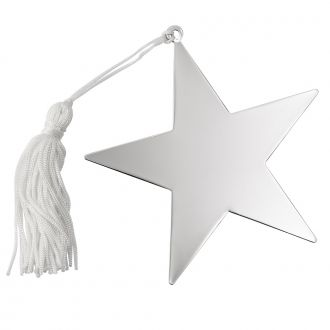 STAR ORNAMENT W/WHITE TASSEL NP 4X4