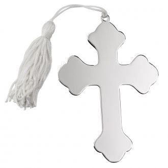 CROSS ORNAMENT W/WHITE TASSEL NP 4.5 X 3