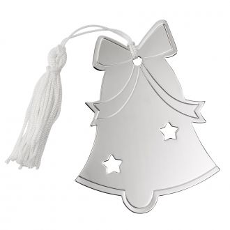 BELL ORNAMENT W/WHITE TASSEL, NP