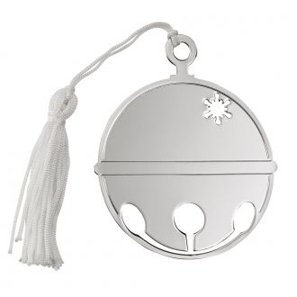 ROUND BALL ORNAMENT W/WHITE TASSELS