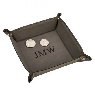 Leatherette Snap Tray, Grey 5