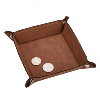Leatherette Snap Tray, Caramel 5
