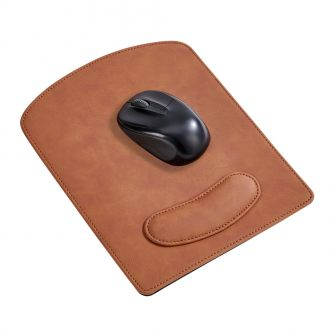Leatherette Mouse Pad Caramel 9.75