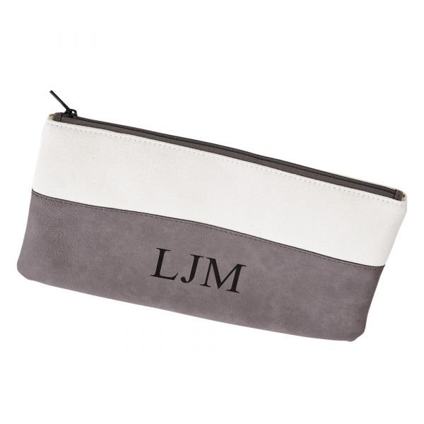 Leatherette/Canvas Grey Case 5.5