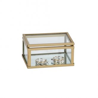 Glass Box w/Gold Trim 1.5