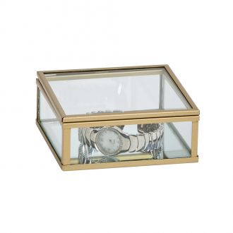 Glass Box w/Gold Tone Trim 1.5