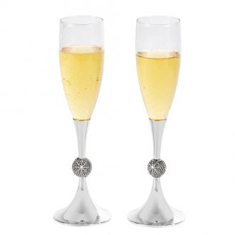 Crystal Ball Toasting Flutes, NP 9.875