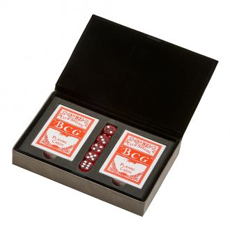 Leatherette 2 Card Deck Set, Grey 5