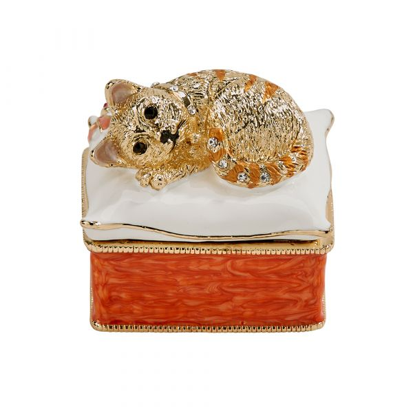 Gold Kitten Trinket Box 1.5