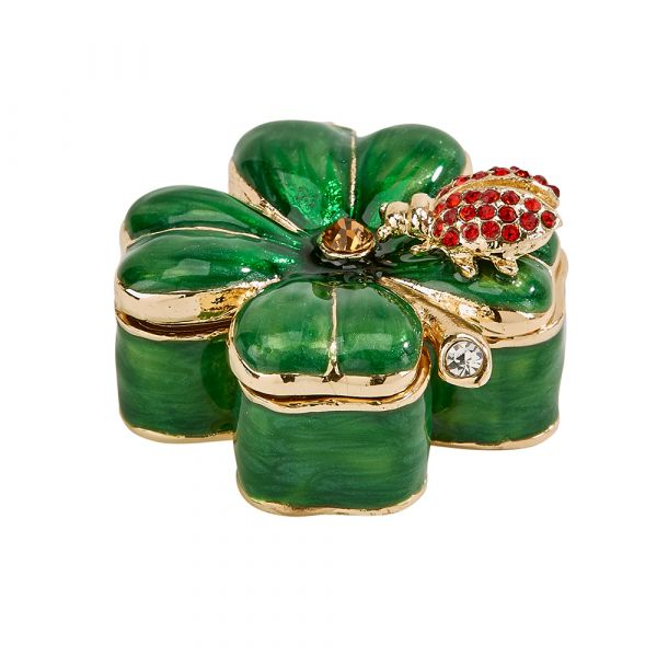 4 Leaf Clover Trinket Box .75