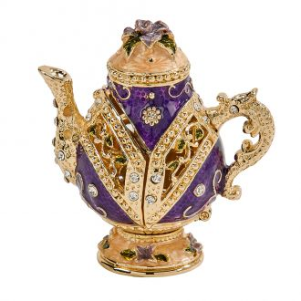 Purple Teapot Trinket Box 2