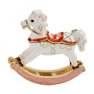 White Rocking Horse Trinket Box 2