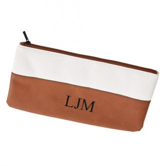 Leatherette/Canvas Caramel Case 5.5