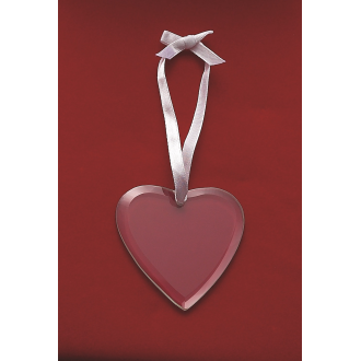 Heart Shaped Glass Ornament, 2.75