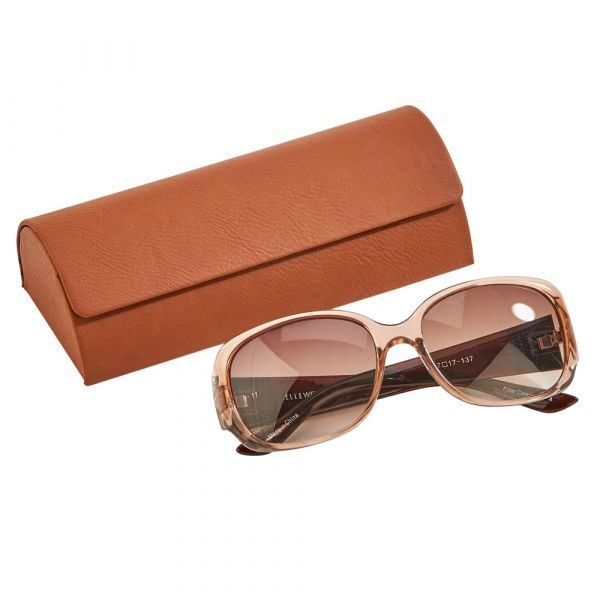 Leatherette Sunglass Case, Caramel 6.5