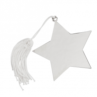 Star Ornament with White Tassel, 4