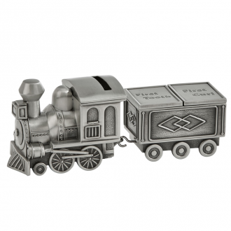 Train Bank with First Tooth and First Curl Caboose, PF 7