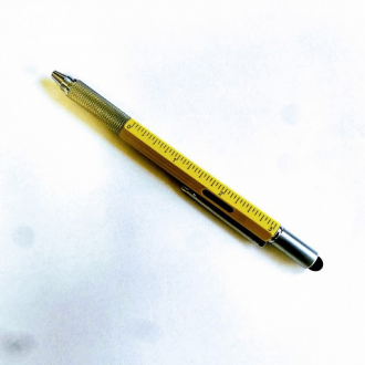 Yellow Hidden Multi Tool Pen