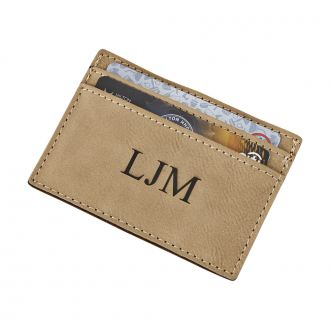 TAN CARD CASE & MONEY CLIP