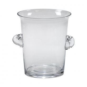 CLEAR GLASS ICE BUCKET OR WINE CHILLER