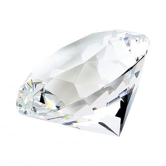 OPTIC DIAMOND SHAPED PAPERWEIGHT