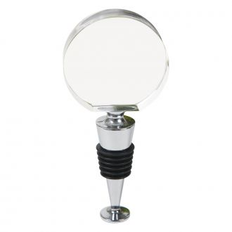 ROUND OPTIC CRYSTAL STOPPER WITH FLAT BOTTOM