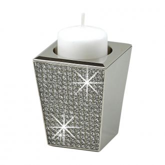 GLITTER GALORE CANDLESTICK HOLDS TAPERS, VOTIVES OR TEA LIGHTS