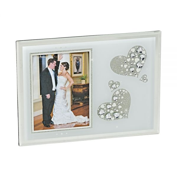 SPARKLING HEARTS DESIGN FRAME HOLDS 5