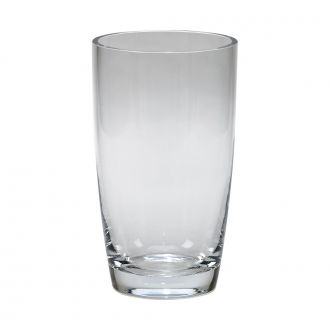 OPTIC CRYSTAL VASE, 8.5