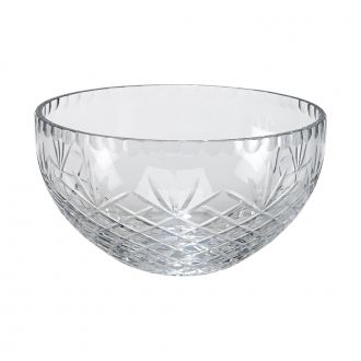 OPTIC CRYSTAL SALAD BOWL WITH MEDALLION ll PATTERN