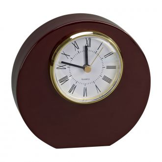 WOOD ROUND DISC SHAPED CLOCK WITH PIANO FINISH