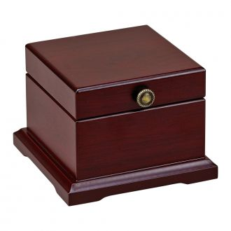 ROSEWOOD FINISH WOOD HINGED JEWELRY BOX