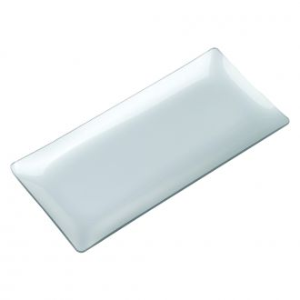 SILVER COLORED GLASS TRAY