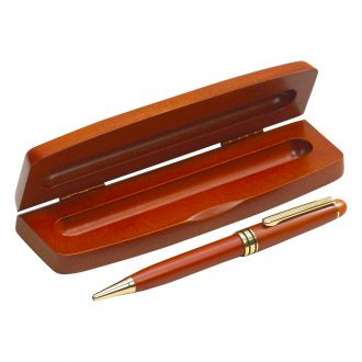 EVERETT STYLE WOOD BOX WITH WOOD PEN