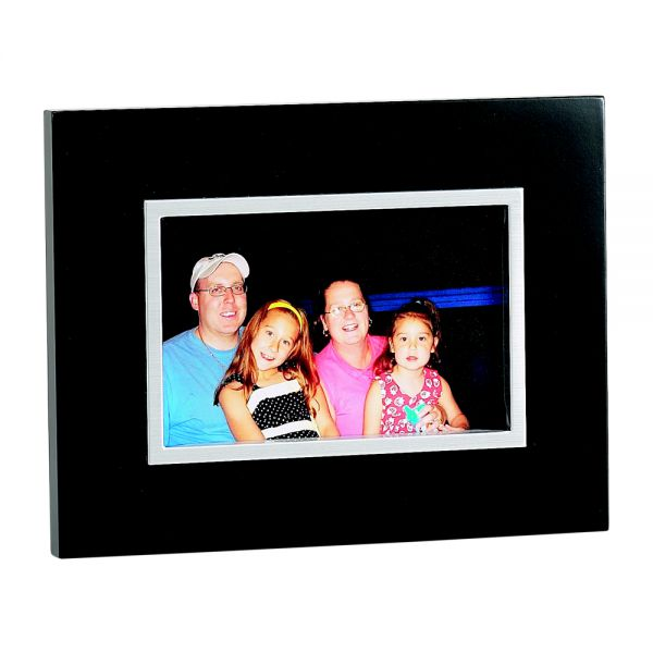 EBONY BLACK FRAME WITH SILVER INNER TRIM HOLDS 4