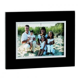 EBONY BLACK FRAME WITH SILVER INNER TRIM HOLDS 5