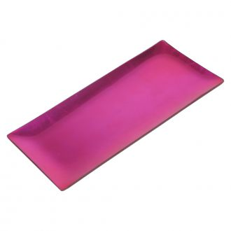 HOT PINK COLORED GLASS TRAY