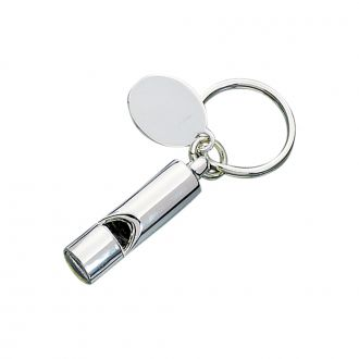 ENGLISH BOBBY STYLE WHISTLE KEY CHAIN