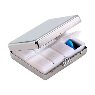 PILL BOX WITH 8 COMPARTMENTS