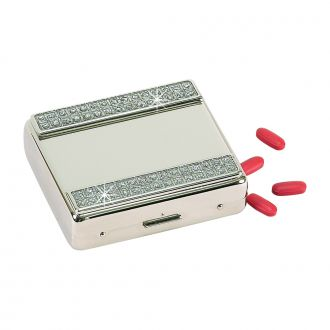 GLITTER GALORE PILL BOX WITH 8 COMPARTMENTS