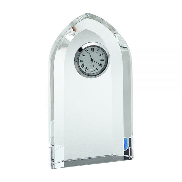 OPTIC CRYSTAL ARCHED CLOCK, 6
