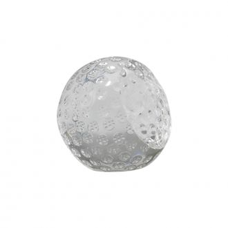 GLASS GOLF BALL SHAPED PAPERWEIGHT, 2