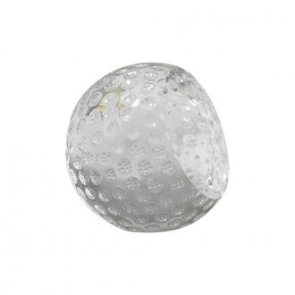GLASS GOLF BALL SHAPED PAPERWEIGHT, 2.75