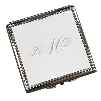 BEADED BORDER SQUARE SHAPED COMPACT