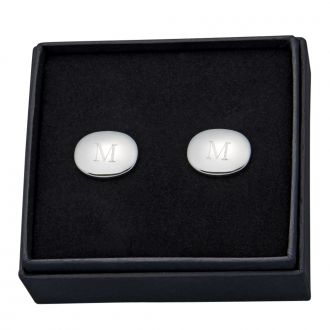 PAIR OF OVAL CUFF LINKS