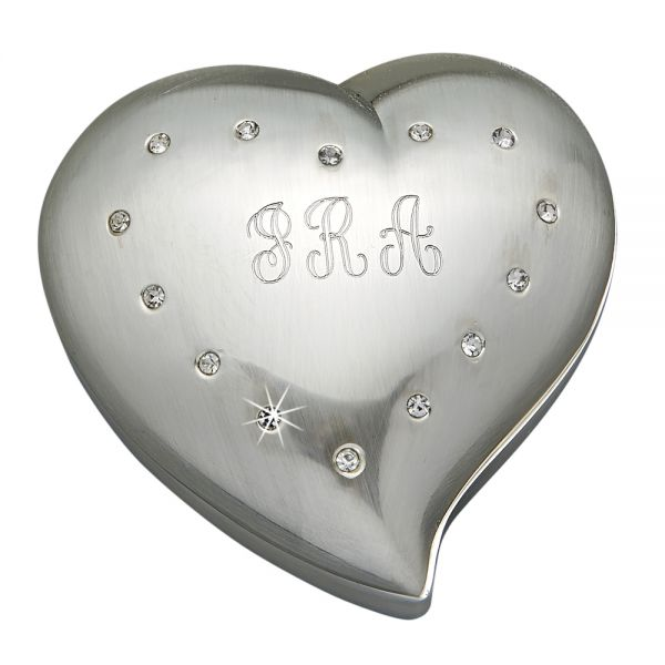 FREE FORM HEART SHAPED BOX WITH CRYSTALS